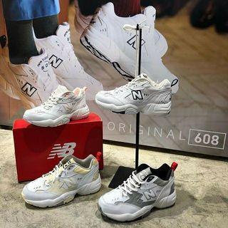 代購New balance 608 IU 李知恩 NB608 老爹鞋 小白鞋 休閒鞋 布鞋