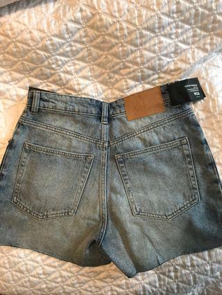 BNWT Cheap Monday High Waisted Denim Shorts - 26