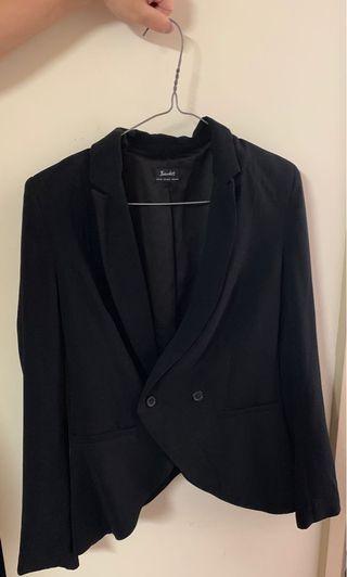 Bardot black shoulder padded blazer