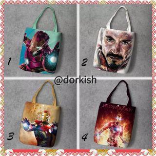 [PO] Marvel Ironman Iron Man Tony Stark Robert Downey Jr. Cute Canvas Tote Bag