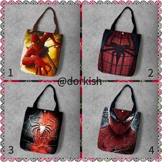 [PO] Marvel Spiderman Spider Man Peter Parker Cute Canvas Tote Bag
