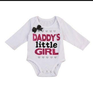 [BNWT] Daddy's Little Girl Baby Romper