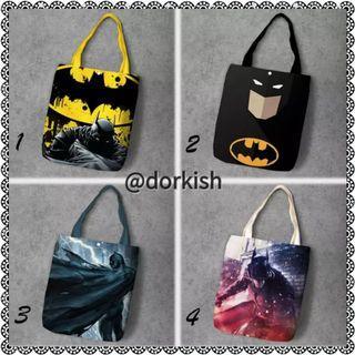 [PO] DC Comics Batman Bat Man The Dark Knight Bruce Wayne Joker Cute Canvas Tote Bag