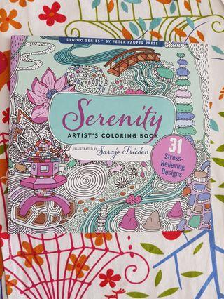 Serenity Colouring Book (stress-relieving Designs)
