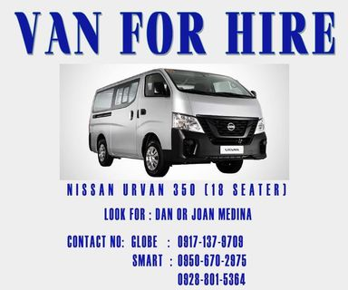 bf0d919aed908d VAN FOR HIRE (any point of luzon)