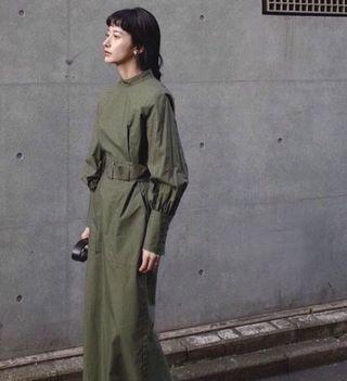Clane 綠色長袖洋裝 1碼