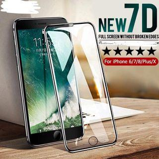 BNIP 7D Full Coverage Tempered Glass for iPhone X/XS (BLACK)