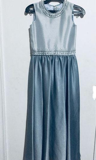 Gray long gown for kids