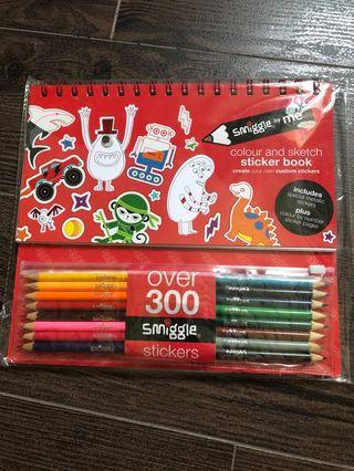 Smiggle Colour and Sketch Sticker Book