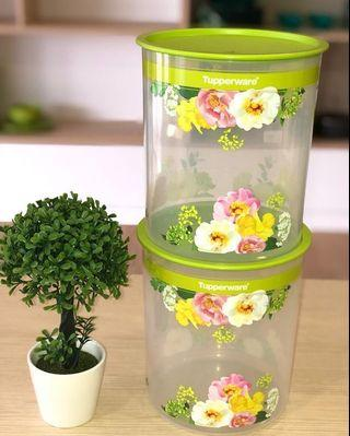 Tupperware Flora Raya One Touch Canister Large 4.3L