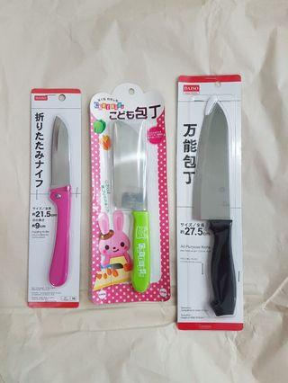 Assorted kitchen knifes