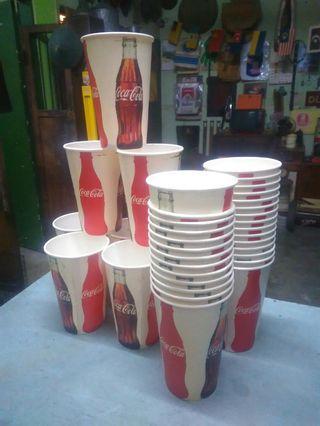 Cawan kertas coke NOS 25PCS..