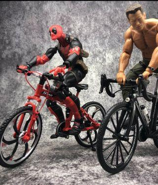 """🚚 Pre Order! RARE and HOT! Brand New Superior Die Cast Mountain Bike (1/10 scale) Red, Black, Yellow Colour Version suitable for 6"""" figures. #ENDGAMEyourEXCESS"""