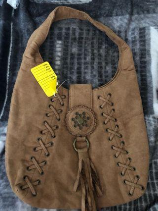 Summer bag in suede material