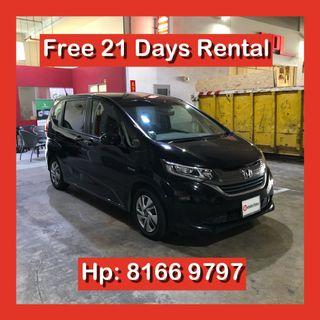 Honda Freed Hybrid MPV Grab Car Go Jek Rental