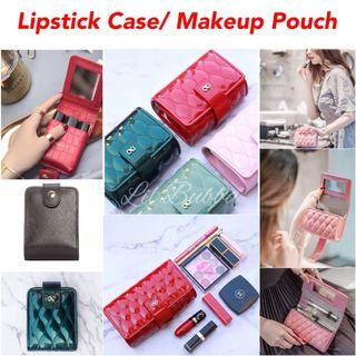 [Ready Stock] Leather Lipstick Case/ Make up Bag/ Cosmetic Pouch