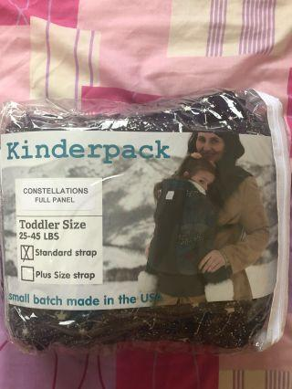 BNWT Kinderpack Constellations Canvas Toddler carrier