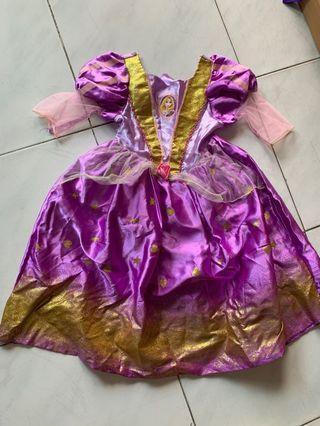 Baju Rapunzel disney asli 4-6 tahun