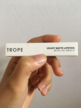 NEW Trope Cosmetics Velvet Matte Lipstick 05 Verse brown