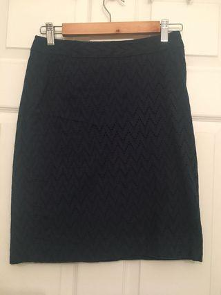 Banana Republic Navy Blue Pencil Skirt (Size 0)