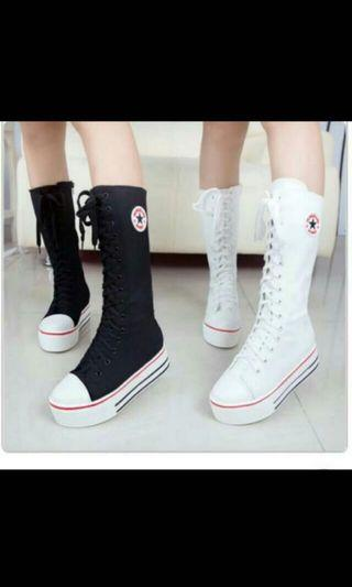 🚚 Brand New Canvas Long Sneakers Boots