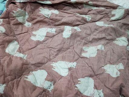 🚚 雙人舖棉床包 一件床包+一個被套