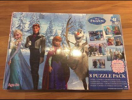 Frozen Jigsaw 8 Puzzle Pack