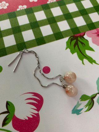 櫻花瑪瑙耳環