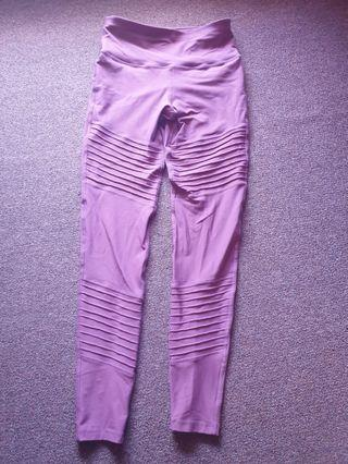 Purple Mauve High Waist Leggings Size 8 Worn Once As New