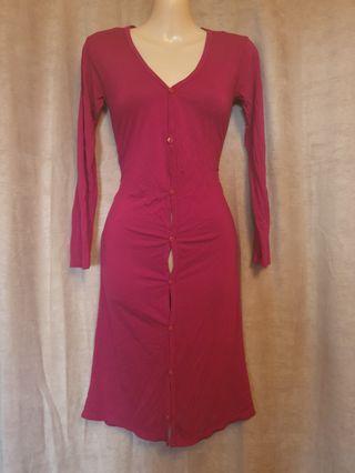Dark Red Long Sleeve Button Up Cardigan Small/Medium Good Preloved Condition