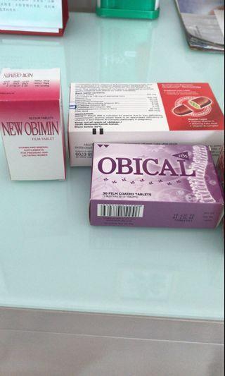 Iberet, New Obimin, Obical - supplements for preggie