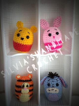 💕 Crochet Tsum Tsum Pooh and Friends