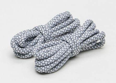 [FREE POS] 3M Static White Reflective Rope Shoelaces #APR75