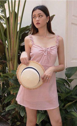 Kissablebella kissablebella Santorini Gingham Slip On Dress (Blush)