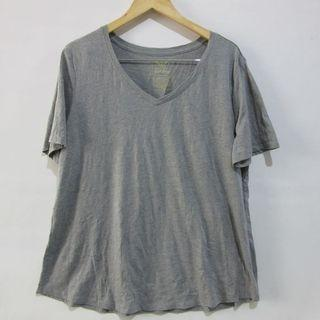 (2-3XL) Faded Glory plus size v-neck tee, soft cotton, nice in actual