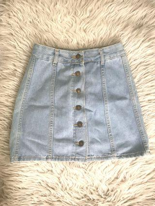 #ChangeTheCycle: Light Denim Button down Skirt