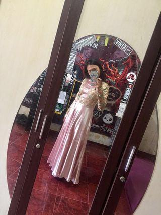 Dress Pesta Turki Pink