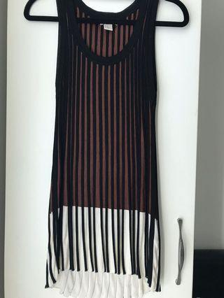 H&M stripes knit top