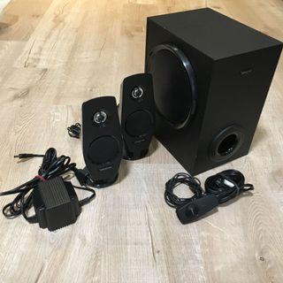 Creative 2.1 speaker good working condition for computer or interior bedroom office etc.