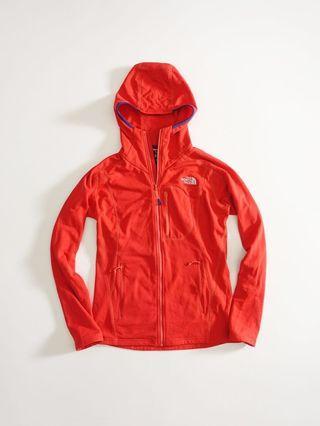美國THE NORTH FACE 橘紅色連帽休閒外套