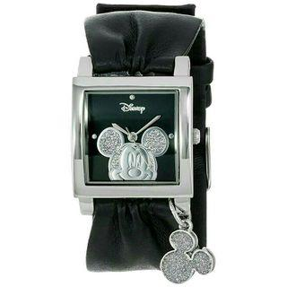 Women's Watch Disney Mickey Mouse Leather Black Charm MK1030