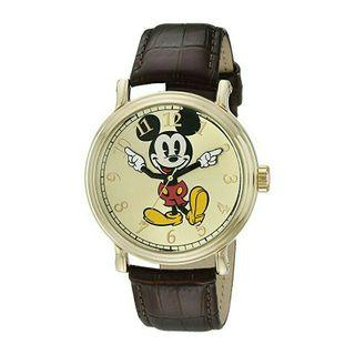 Men's Watch Disney Mickey Mouse Leather Brown W001848