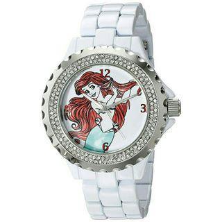 Women's Watch Disney Princess Little Mermaid Ariel White Metal W001816