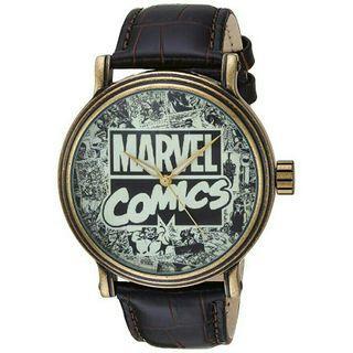 Men's Watch Marvel Comics Avengers Brown Leather WMA000047