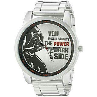 Men's Watch Star Wars Darth Vader Metal Silver Oversized DAR2016