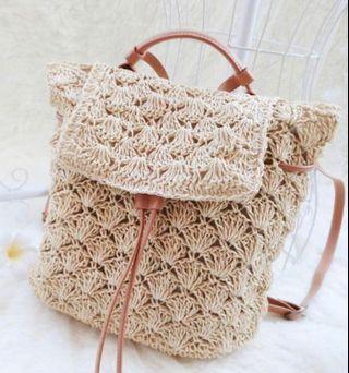 Crochet Rattan Bag