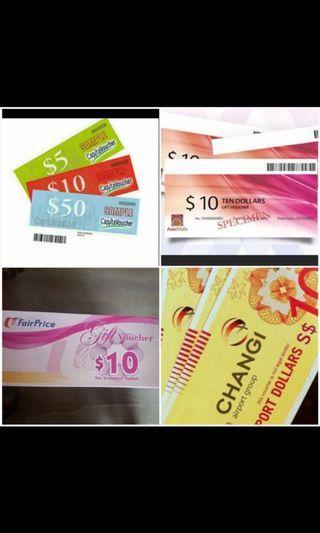 Want to buy Isetan, Capitaland , asiamalls, ntuc vouchers