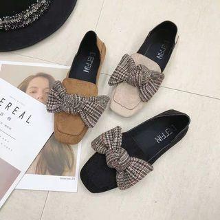 Miuu inspr audrey bow vintage loafer shoe
