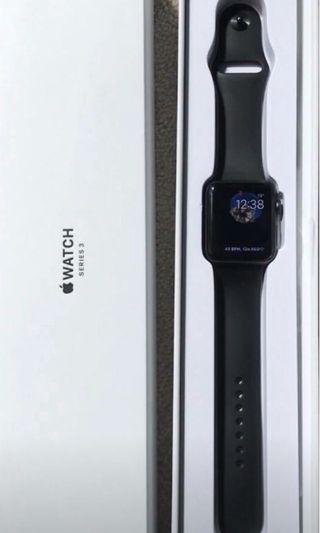 Black Apple Watch series 3 42mm