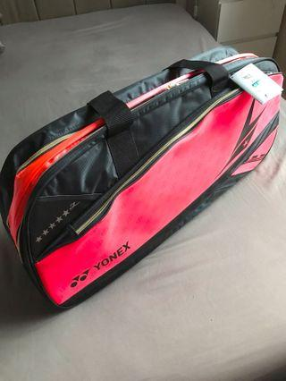 Yonex LIN DAN Badminton Bag Bright Red (Authentic from Sunrise) Including Postage Fee